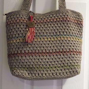 NEW THE SAK AMBERLY Tote PURSE HANDBAG CROCHETED